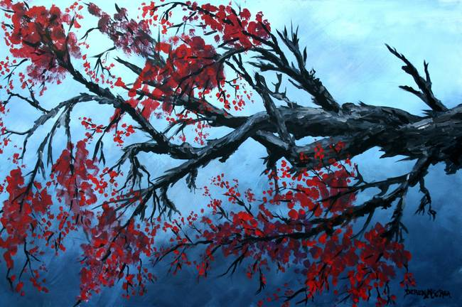 Japanese Cherry Blossom Paintings Sale
