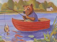 Little Bear Fishing by Matthew Finger