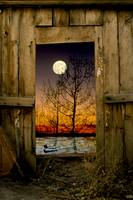 Full Moon Barn door
