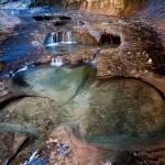 """Glowing Stone Pools, Zion Subway"" by HiddenLightPhotography"