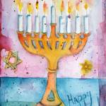 """Whimsical Menorah"" by ShoshannaBauer"