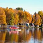 """Autumn Comes To Lake Hood Alaska"" by BrentC"