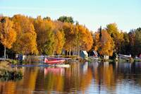 Autumn Comes To Lake Hood Alaska