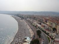Aerial view of the beach in Nice, France