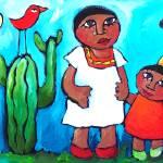 """LOVEBIRDS OF MEXICO CITY"" by saracatenacolorfulart"