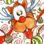 """Rudolph the Red Nose Deer"" by LuisPeres"
