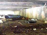 Homeless camp under the Colorado ave bridge