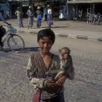 """Boy with monkey"" by sostroff"