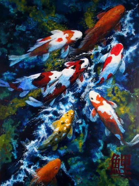 Realism koi artwork for sale on fine art prints for Koi prints for sale
