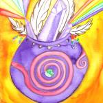 """""""Crystal Feather Healing Bowl"""" by Christia"""