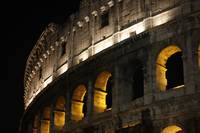 Rome the Colosseum at night