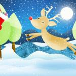 """Rudolph and the christmas stocking"" by chop-stix"