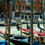 """Gondolas at Rialto"" by DonnaCorless"
