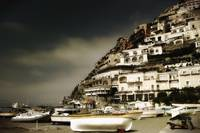 Boats along the Amalfi Shore