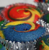 Rainbow cupcakes in Hi Res