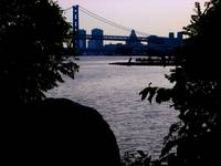 Ben Franklin Bridge from Penn Treaty Park