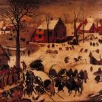 """Le Denombrement by Pieter Brueghel"" by ArtLoversOnline"