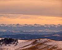 The Rocky Mountains from Cripple Creek, Colorado-1