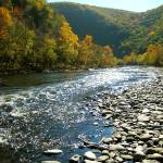 """Lehigh River in Jim Thorpe"" by PhillyandMe"