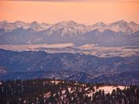 The Rocky Mountains from Cripple Creek, Colorado-2