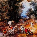 """Road in the Woods by Jan Brueghel"" by ArtLoversOnline"