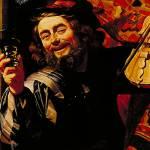 """The Merry Fiddler by Gerard van Honthorst"" by ArtLoversOnline"