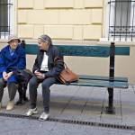 """Old Friends On Park Bench - London, England"" by madeline"