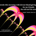 """Devout Thanksgiving for my Friends"" by empowerwithart"