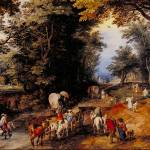 """Frequented Forest Road by Jan Brueghel"" by ArtLoversOnline"