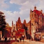 """Old Amsterdam by Barend Cornelis Koekkoek"" by ArtLoversOnline"