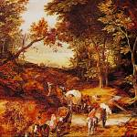 """Wooded Landscape with Wagon Train by Jan Brueghel"" by ArtLoversOnline"