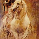"""Man on Horseback by Sir Anthony van Dyck"" by ArtLoversOnline"