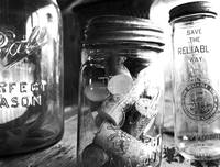 Black & White Mason Jars