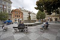 Vienna Lovers On Bench