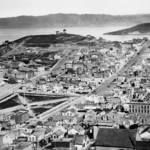 """Telegraph Hill viewed from Russian Hill c1865, San"" by worldwidearchive"