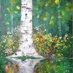 """""""Birch in Flowers"""" by art4joy"""