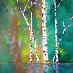 """Birch On Bank"" by art4joy"