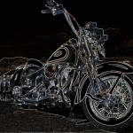 """Harley Davidson FLSTS Dark"" by EricDee"