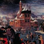 """The Skaters by Pieter Brueghal"" by ArtLoversOnline"