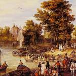 """The Landing Square by Jan Brueghel"" by ArtLoversOnline"