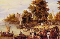 The Landing Square by Jan Brueghel