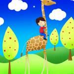 """Giraffe rider"" by chop-stix"