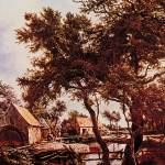 """The Watermill by Meindert Hobbema"" by ArtLoversOnline"