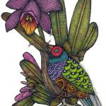 """Finch and Orchid"" by MarilynMihmSuchan"