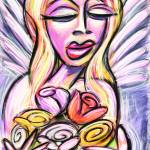 """angel with flowers"" by jeffreyjacoby"