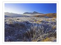 Winter sunset on Rannoch Moor Scotland UK