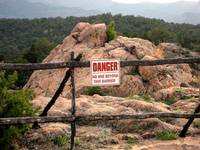 Danger at Royal Gorge, Colorado