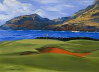 Warren Keating Print GOLF, KAUAI LAGOONS HAWAII