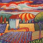 """Fauve Fields Landscape"" by theartlady"