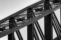 Bridge Climb 2 in Black and White,Sydney,Australia